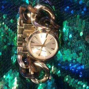 Gold link Michael kors watch